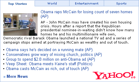 News Articles from Yahoo!